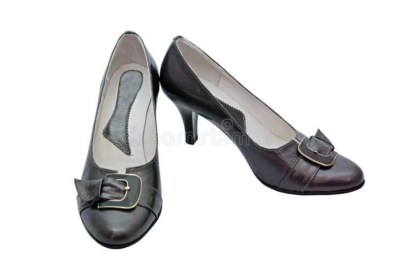 黑色鞋子 向量例证