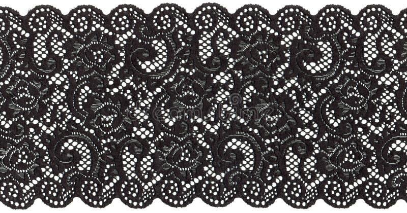 黑色鞋带 库存图片