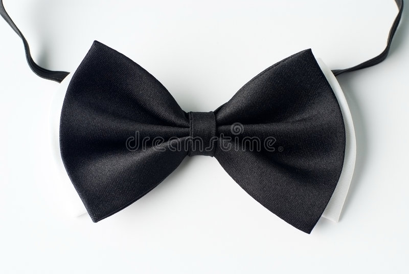 黑色领带白色 图库摄影
