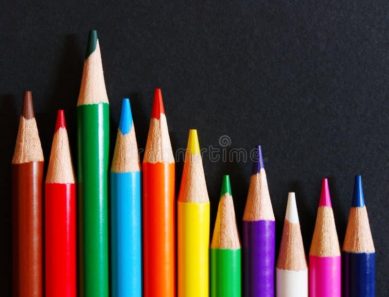黑色颜色纸张铅笔 库存图片