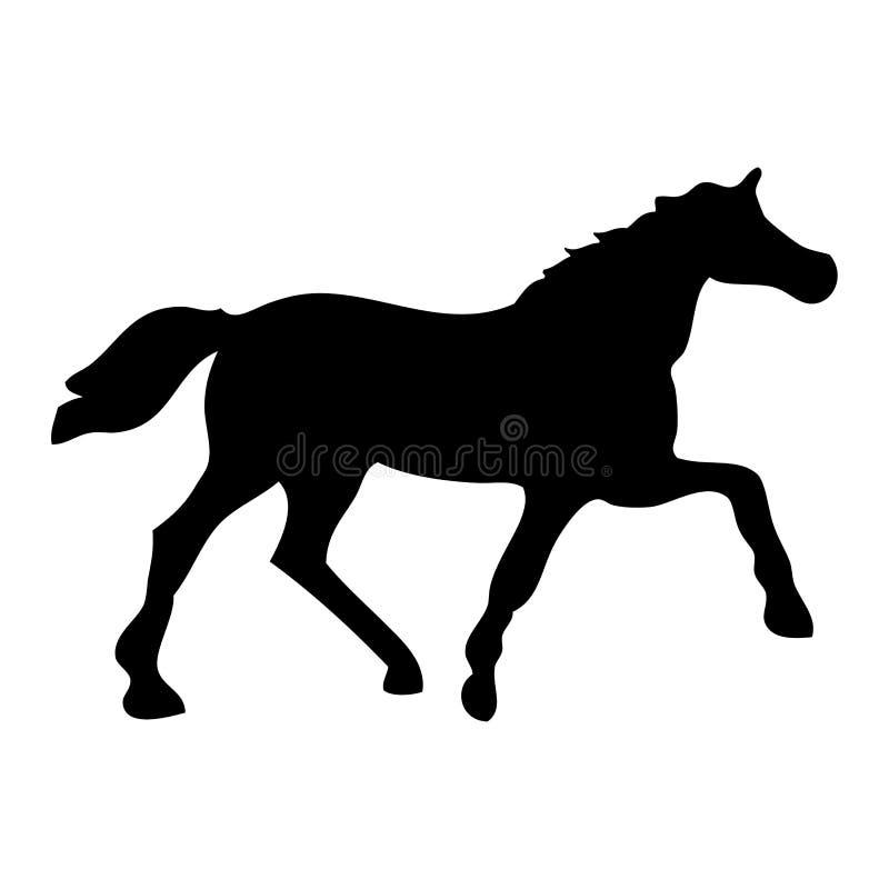 黑色马 库存图片