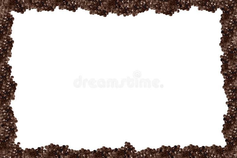 黑色鱼子酱框架pictire 库存照片