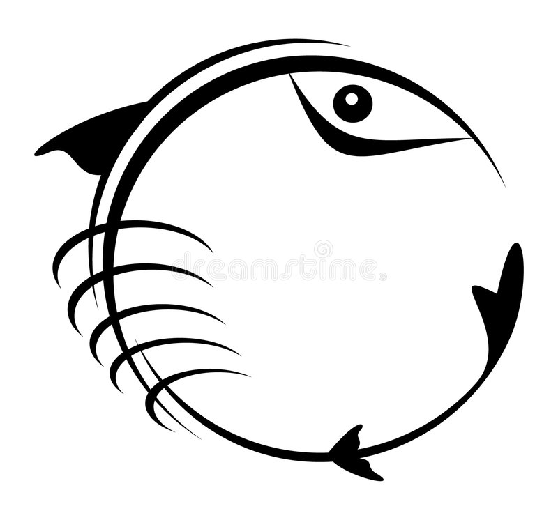 黑色鱼 向量例证