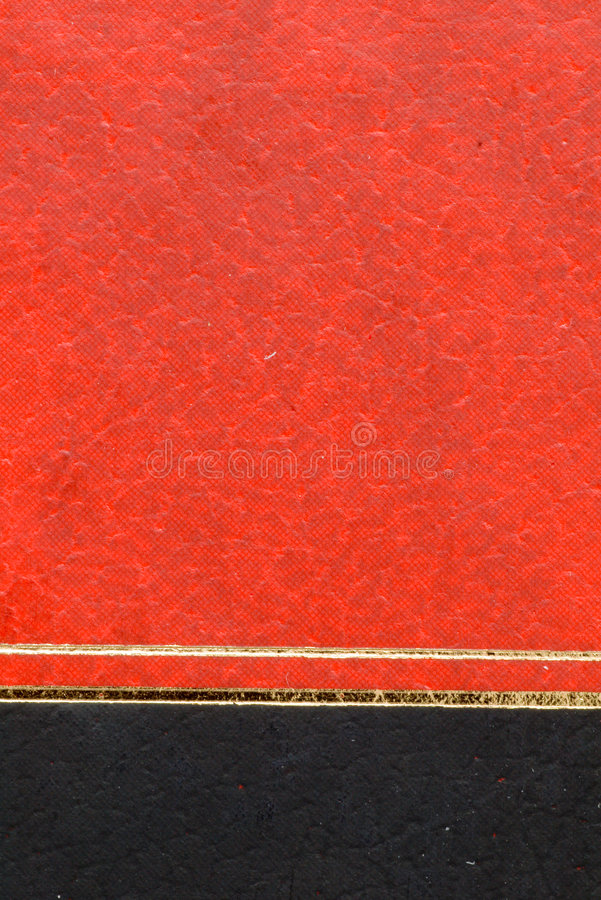 黑色bookcover红色 免版税库存照片