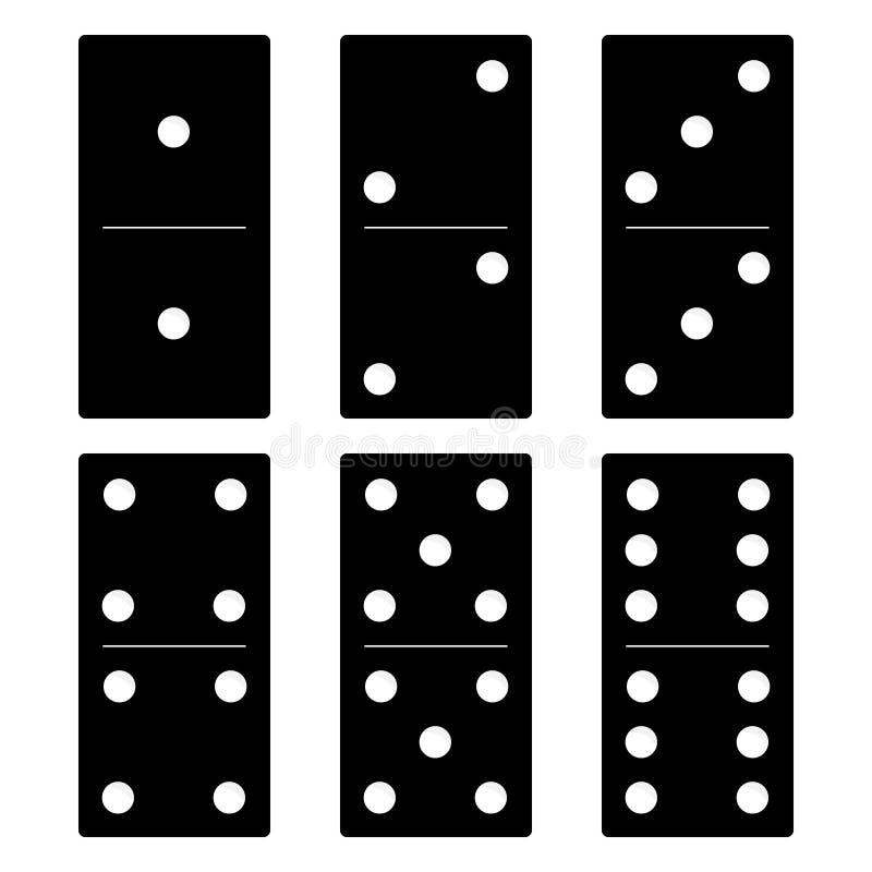 黑色Domino集 皇族释放例证