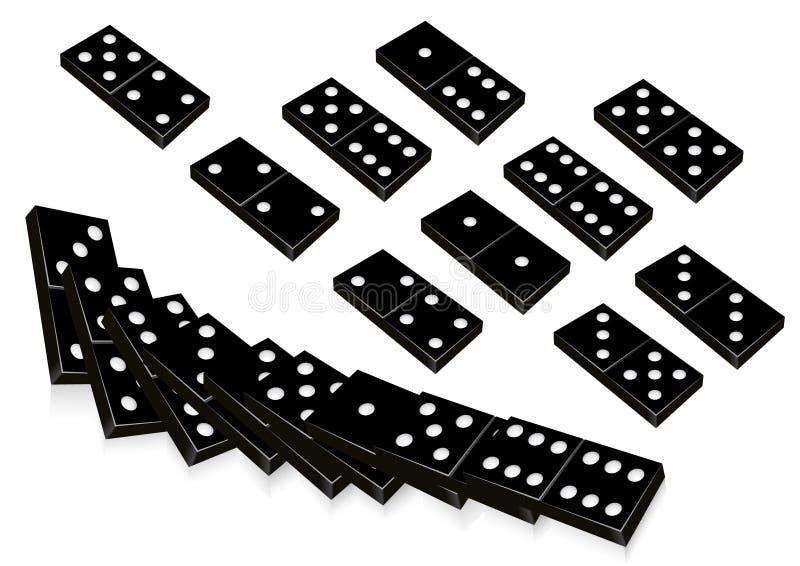 黑色Domino 向量例证