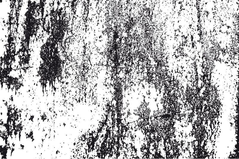 黑色grunge纹理白色 库存例证