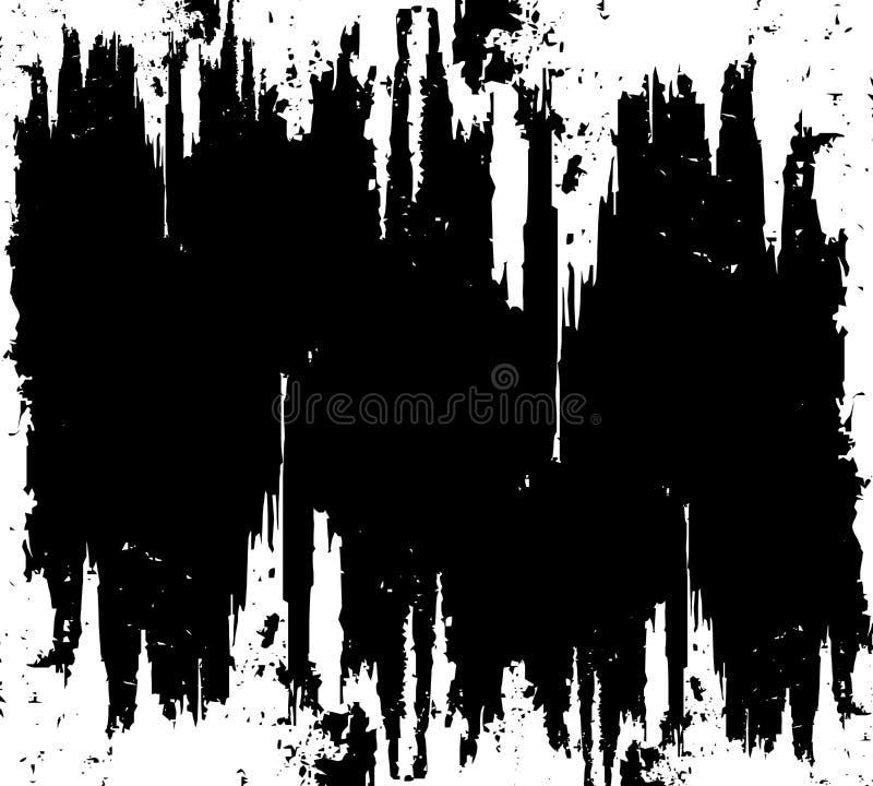 黑色grunge被抓的表面 皇族释放例证