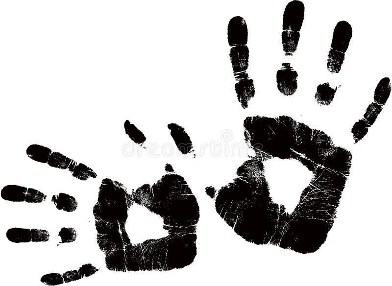 黑色handprint向量 库存例证