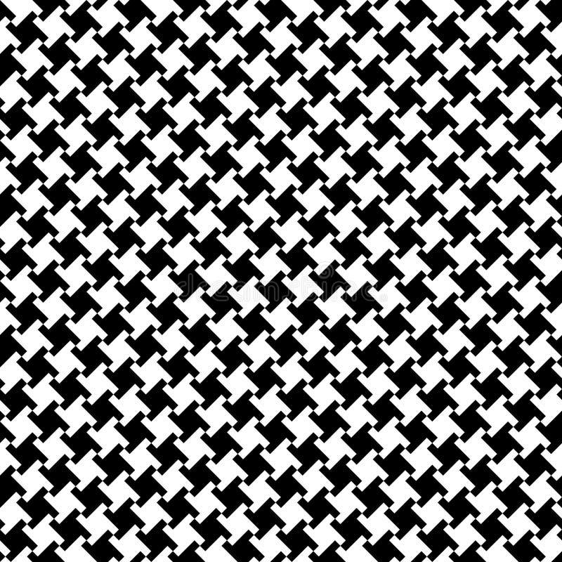 黑色houndstooth白色 向量例证