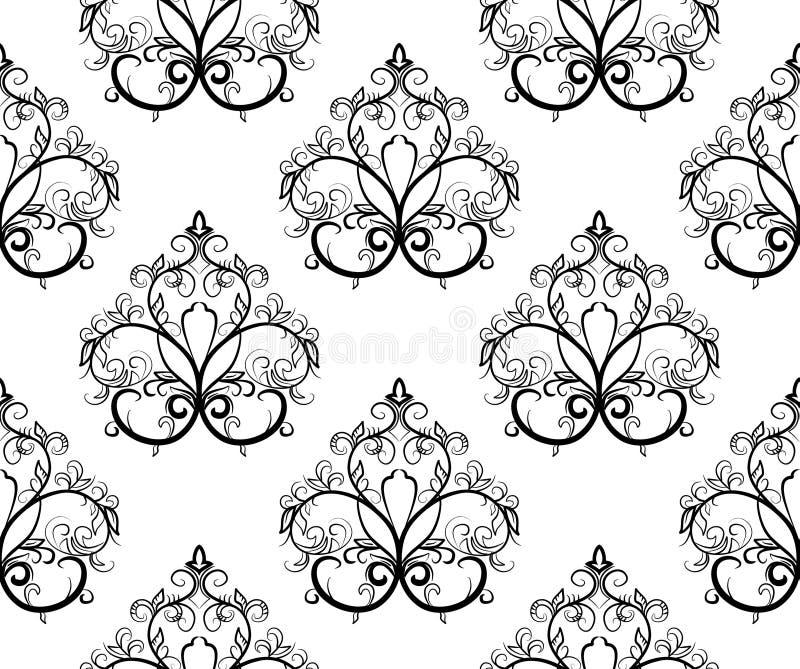 黑色illustrat模式无缝的向量白色 向量例证