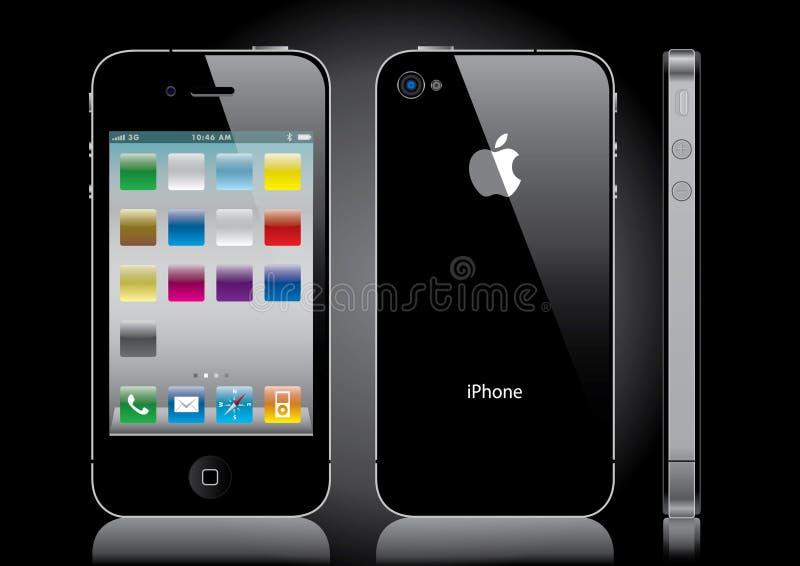 黑色iphone 库存例证