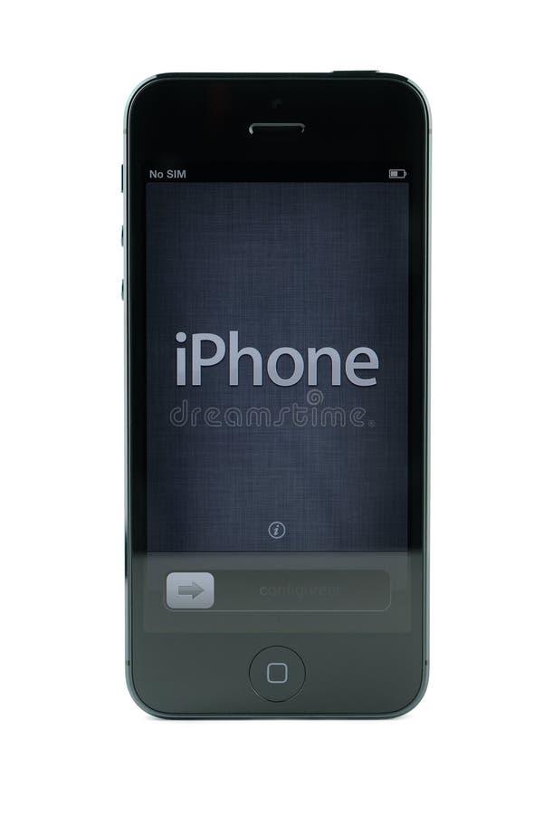 黑色iPhone 5 免版税库存图片