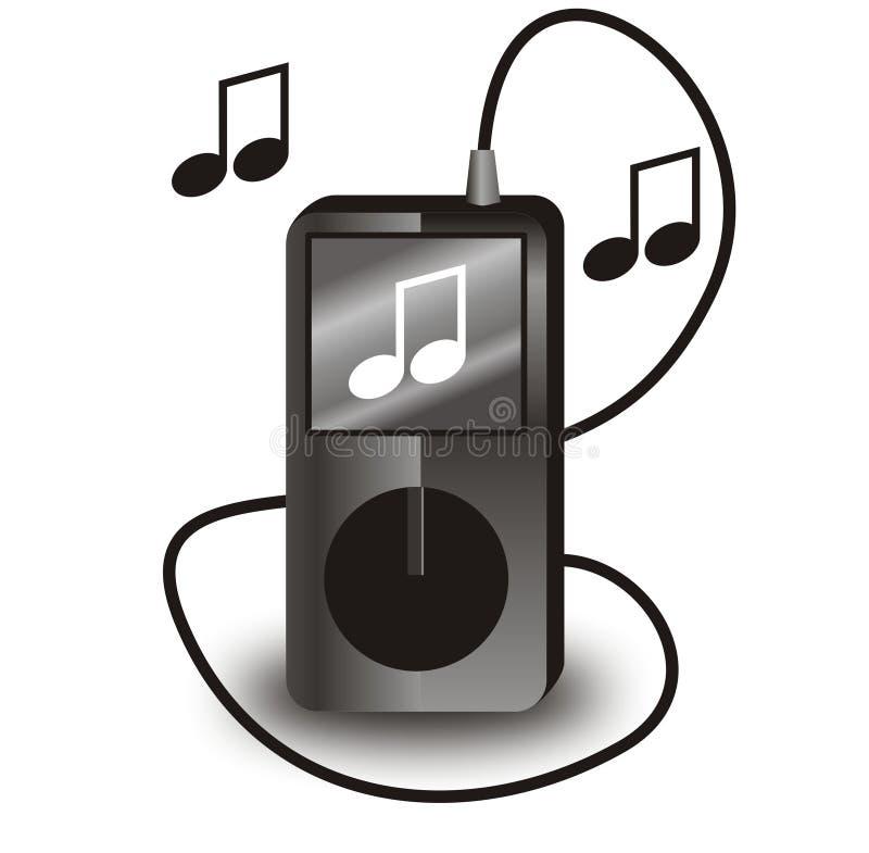 黑色iPod向量 库存例证