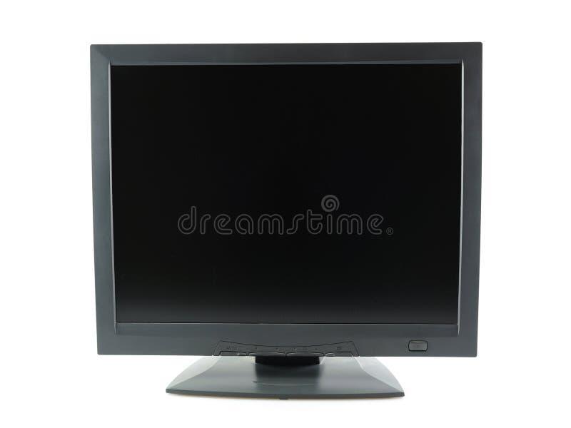 黑色lcd监控程序 库存图片