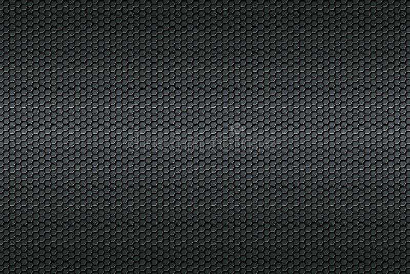 黑蜂窝碳纤维背景 皇族释放例证