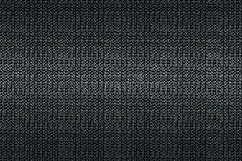黑蜂窝碳纤维背景 库存例证