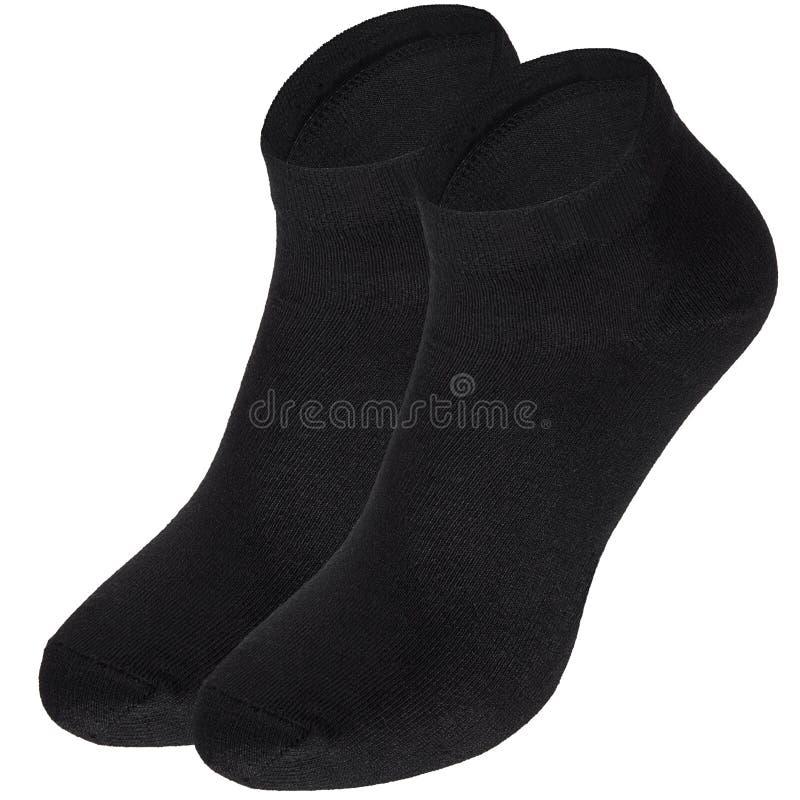 黑袜子隔绝了 库存图片