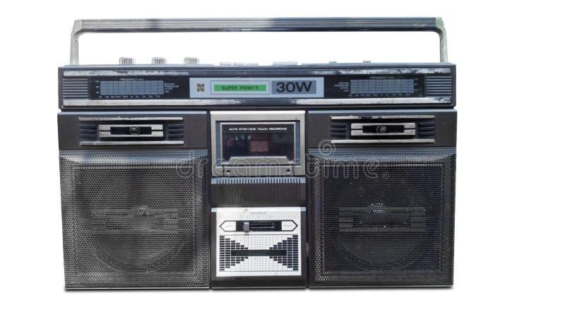 黑被塑造的收音机 免版税库存照片