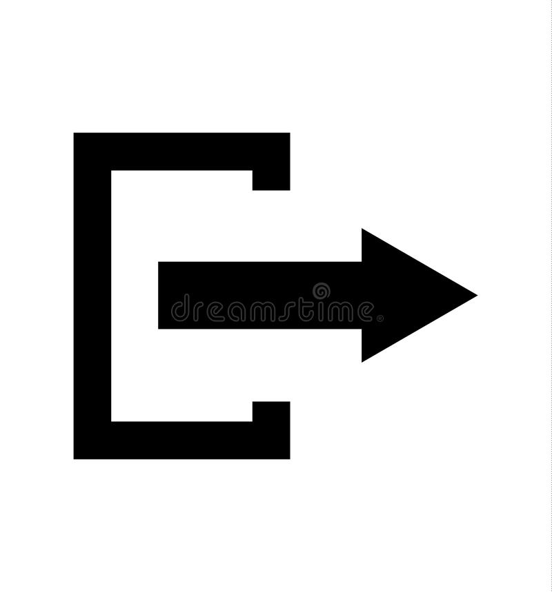 黑被放弃的标志,隔绝在白色 库存例证
