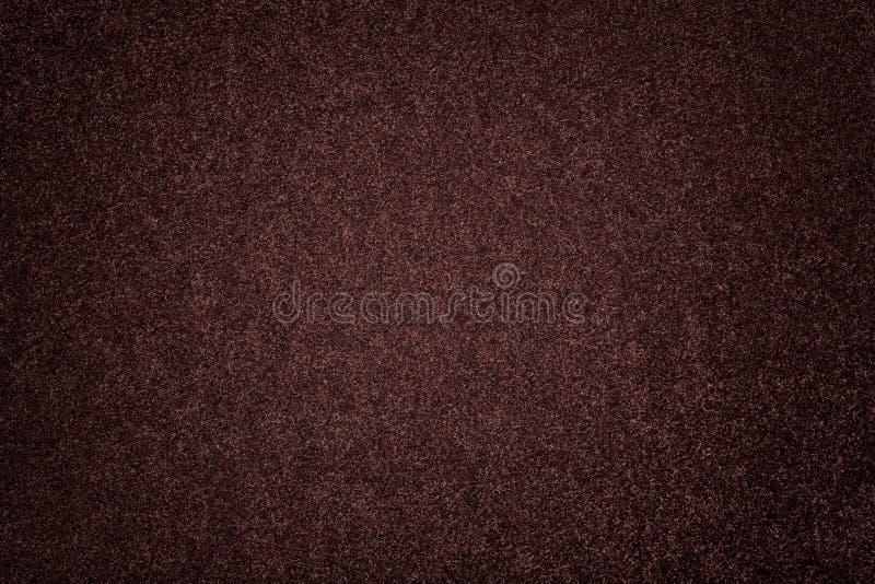 黑褐色暗淡绒面革织品特写镜头 毛毡天鹅绒纹理  库存图片