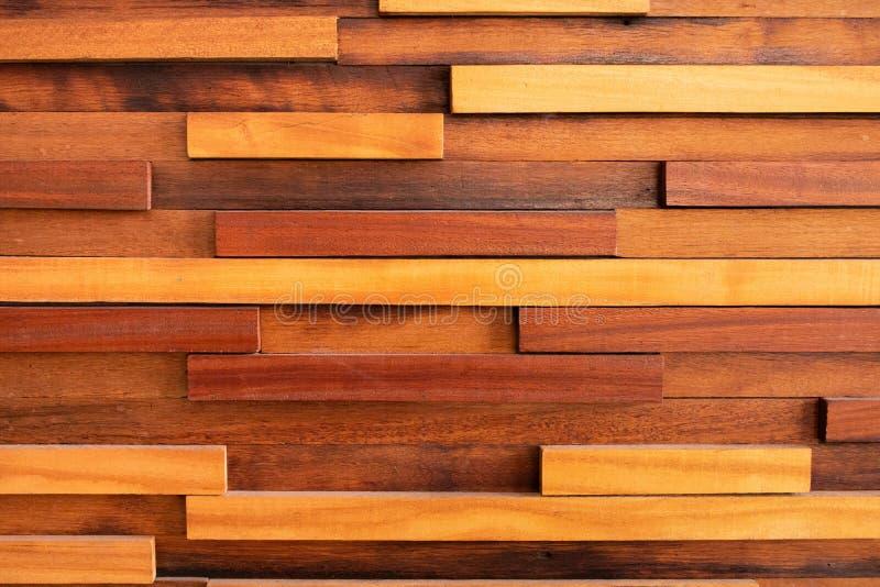 黑褐色木纹理背景表面摘要木材老板条 免版税库存照片