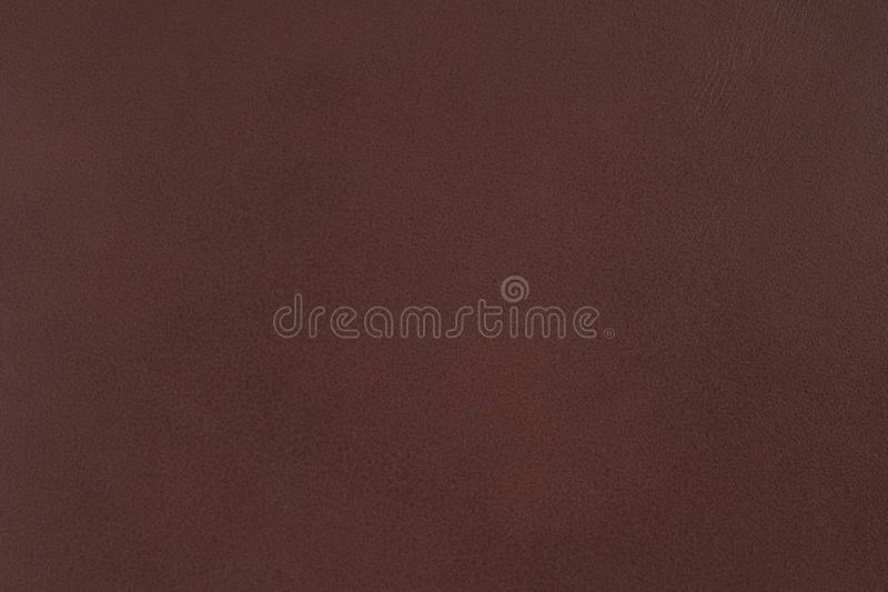 黑褐色皮革纹理特写镜头可以使用作为背景 免版税库存图片