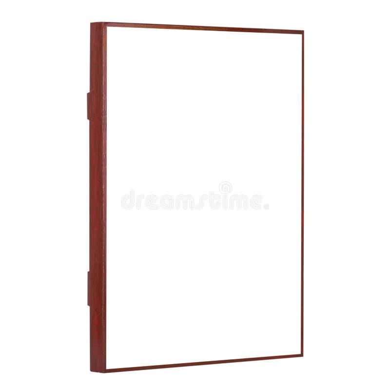 黑褐色自然颜色空的木画框 免版税库存图片
