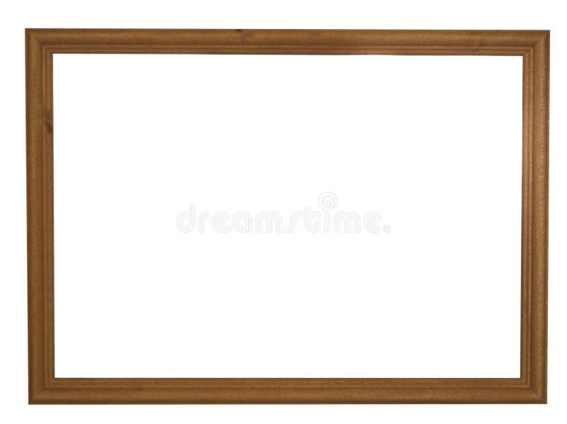 黑褐色自然颜色空的木画框 图库摄影