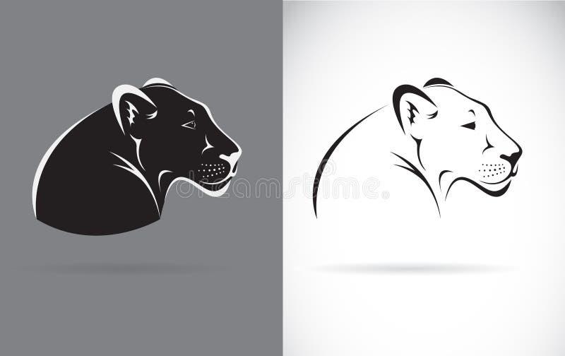 黑豹传染媒介在白色背景和灰色背景的 皇族释放例证