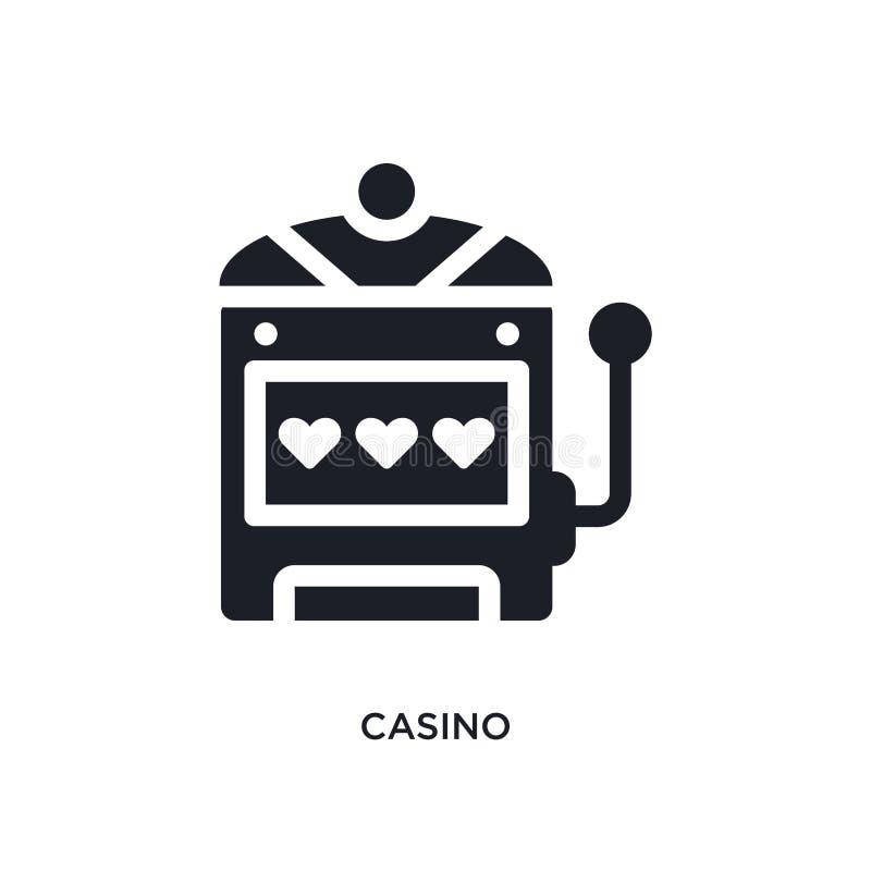 黑赌博娱乐场被隔绝的传染媒介象 从美国概念传染媒介象的简单的元素例证 赌博娱乐场编辑可能的商标 皇族释放例证