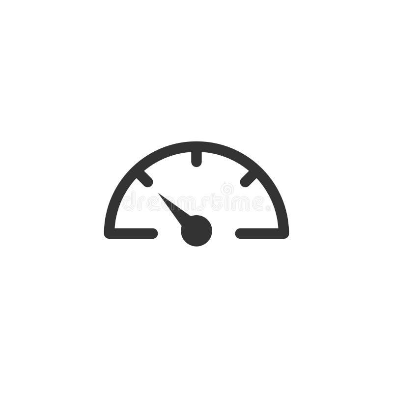 黑车头表,车速表线在白色隔绝的象 皇族释放例证