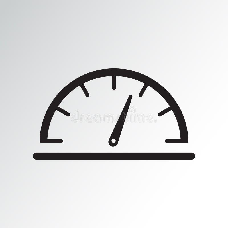 黑车速表象 r 库存例证