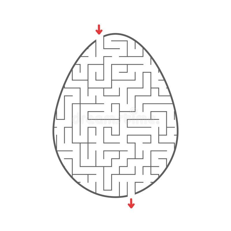 黑迷宫鸡蛋 哄骗活页练习题 活动页 孩子的比赛难题 背景美丽的复活节彩蛋节假日污点 迷宫难题 也corel凹道例证向量 向量例证