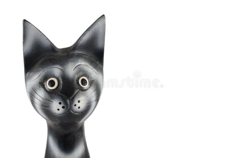 黑顶头猫股票图象 免版税库存照片