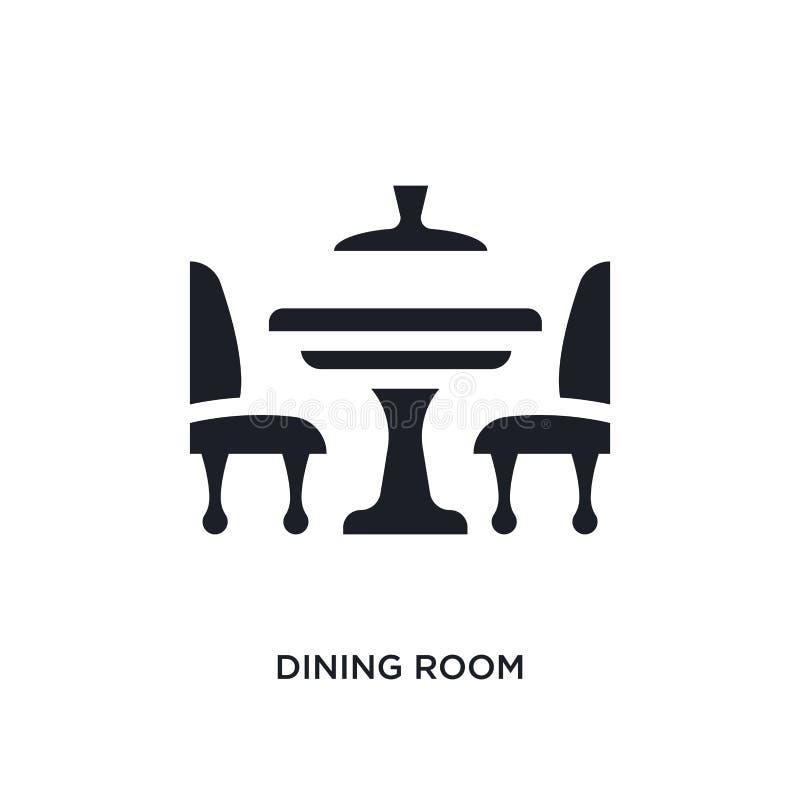 黑餐厅被隔绝的传染媒介象 从家具和家庭概念传染媒介象的简单的元素例证 ?? 皇族释放例证