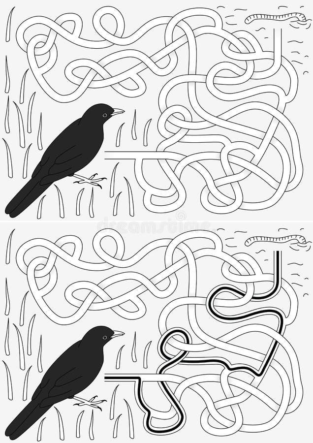 黑鹂迷宫 向量例证