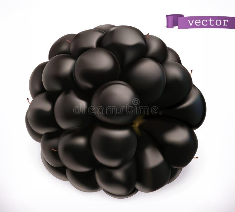 黑鹂 新鲜水果3d传染媒介象 向量例证