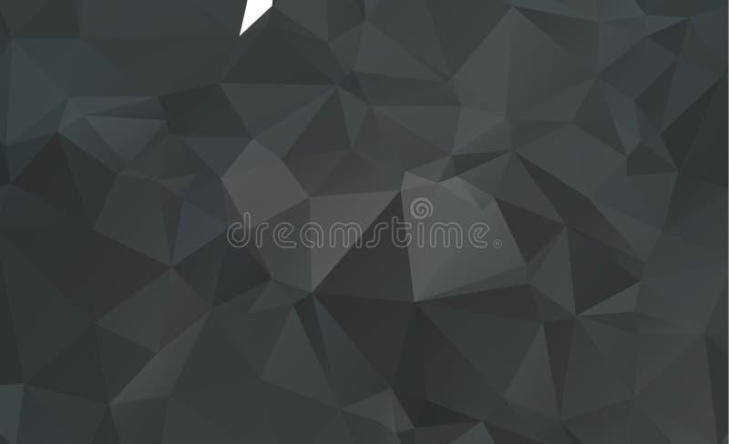 黑黑暗的多角形低样式 几何模式 重复p 库存例证