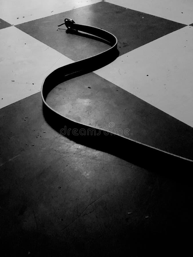 黑&白色传送带 免版税库存照片