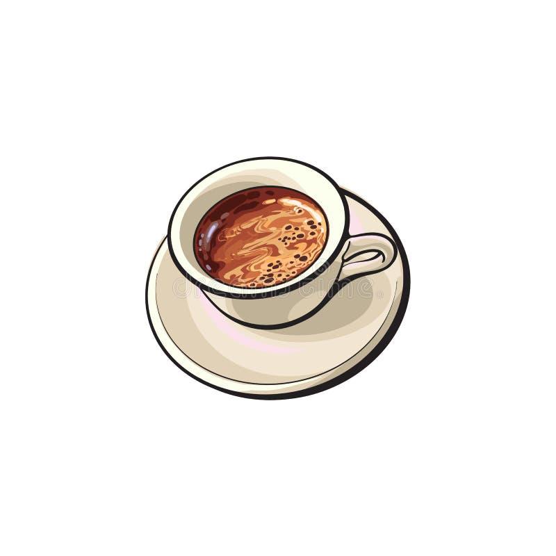 黑Americano,浓咖啡,土耳其咖啡饮料 皇族释放例证