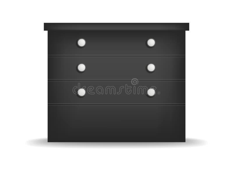 黑nightstand大模型,现实样式 皇族释放例证