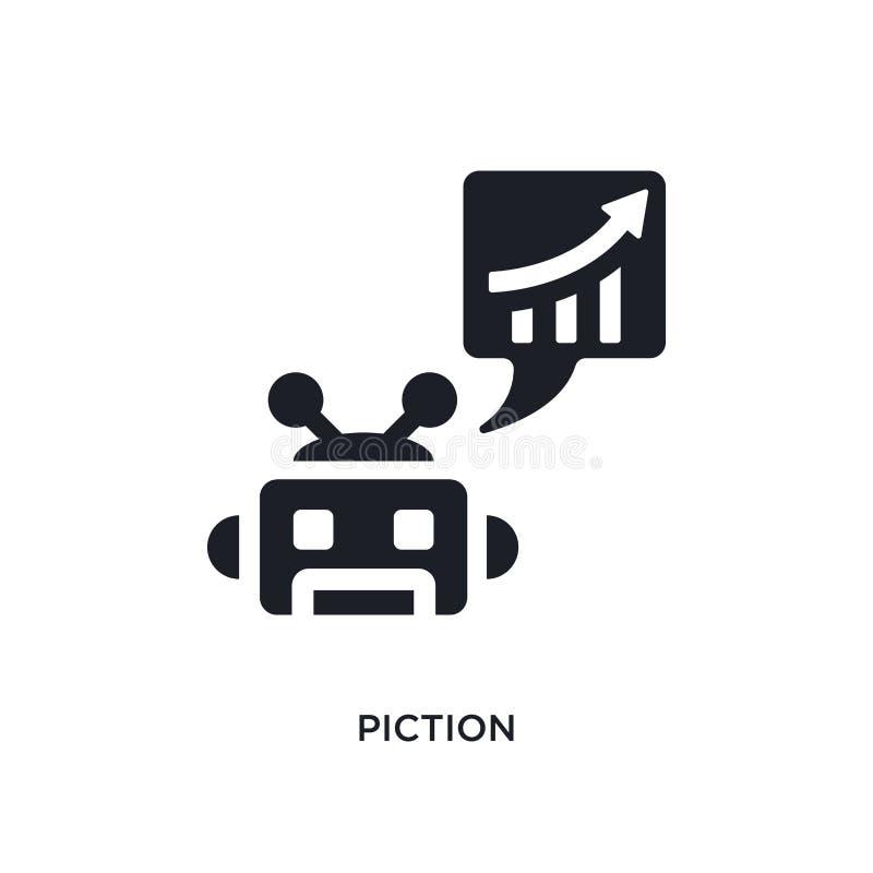 黑piction被隔绝的传染媒介象 从人工智能概念传染媒介象的简单的元素例证 piction 向量例证