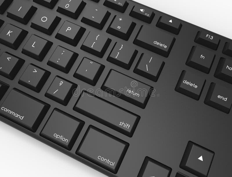 黑QWERTY键盘 皇族释放例证
