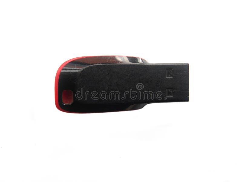 黑USB一刹那笔驱动 库存照片