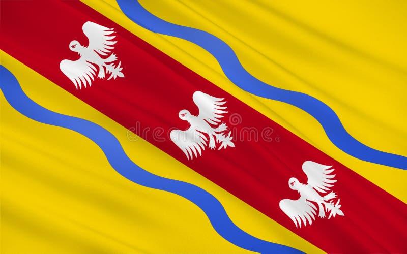 默尔特摩泽尔省,法国旗子  库存例证