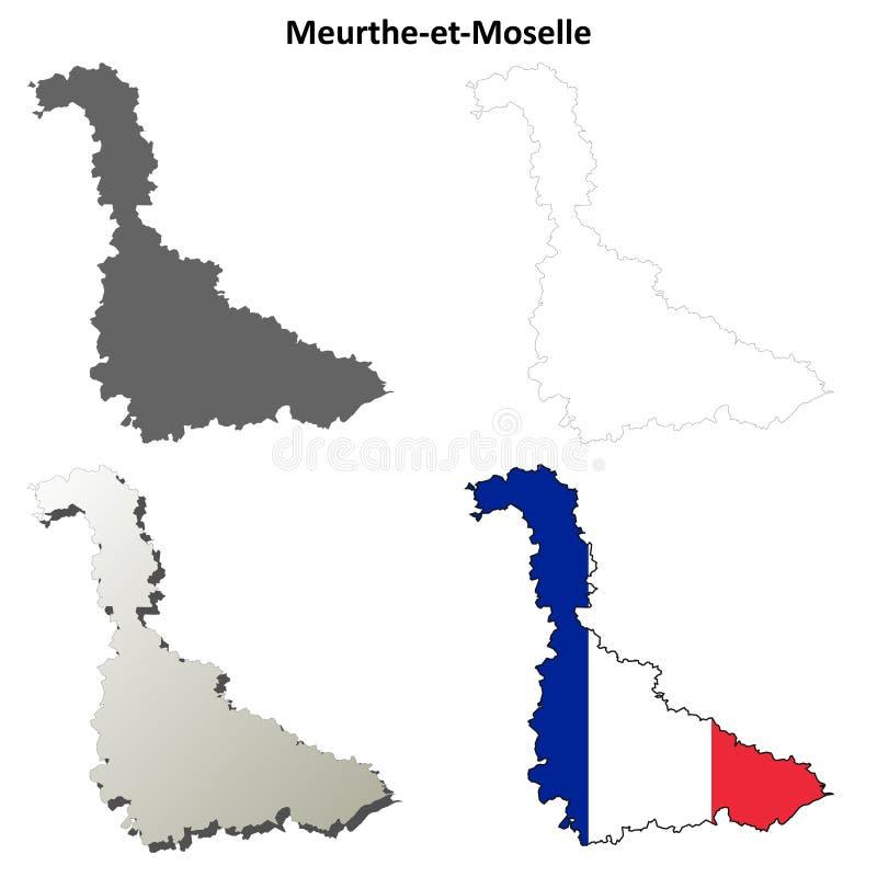 默尔特摩泽尔省,洛林概述地图集合 皇族释放例证