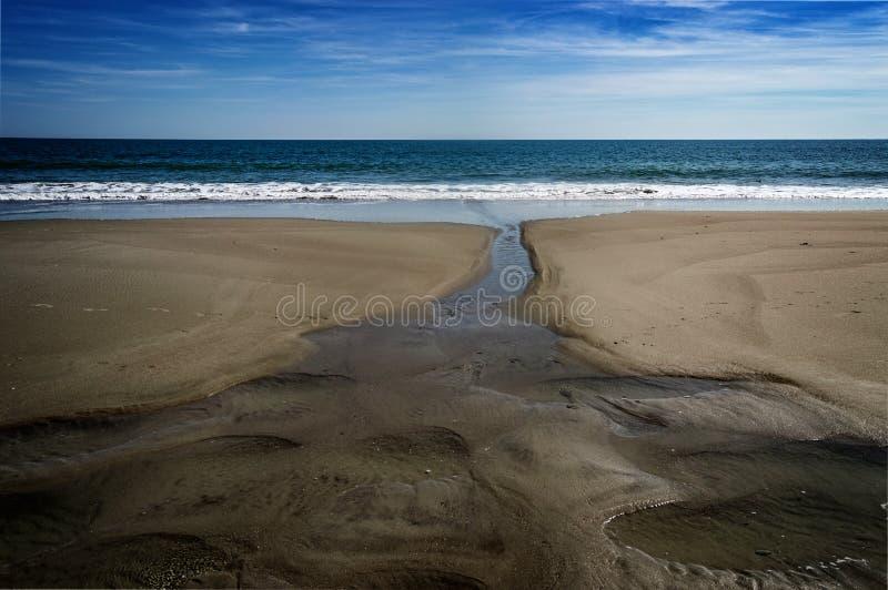 默特尔海滩和海洋 库存照片