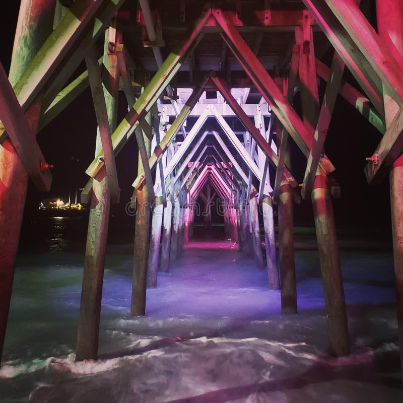 默特尔海滩木板走道 免版税图库摄影