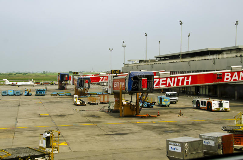 默罕默德Murtala机场门 免版税库存图片